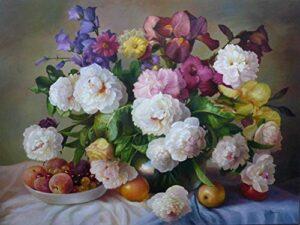 Aproveite O Preço De Pintura Por Numeros Flores Ao Comprar Online